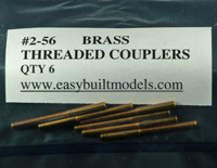 #2-56 Brass Threaded Couplers