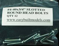 #4-40 x 3/4″ Slotted Round Bolt