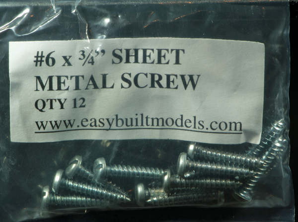 #6 x 3/4″ Sheet Metal Screws