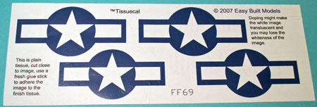 markings for Kit FF69 Grumman Avenger