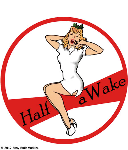 Half aWake Girl TissueCal markings for kit PD12