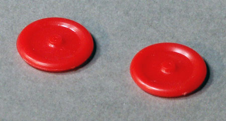 "3/4"" Red Solid Plastic Wheels"