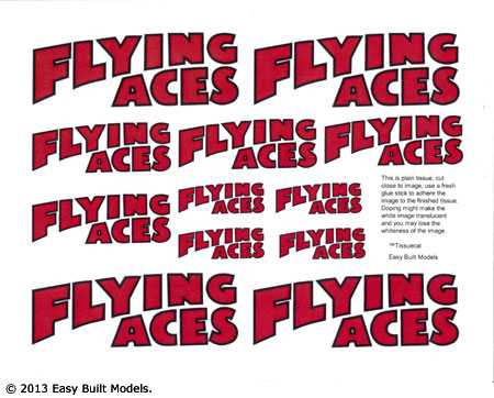 markings for Flying Aces Logo
