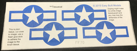 TissueCal markings for kit FF70 Vought Corsair