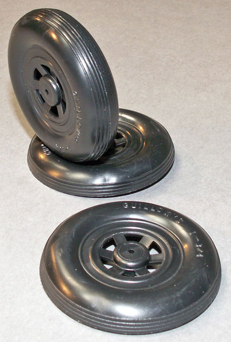 "1 3/4"" black plastic wheel halves"