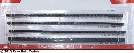 4 Assorted Coping Saw Blades