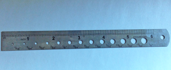 Steel Ruler with Drill Gauge