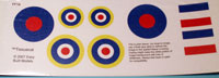 TissueCal markings for kit EB02 Hawker Hurricane