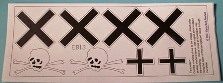 markings for kit EB13 Fokker D. VII