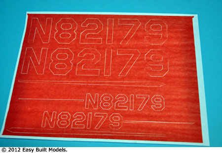 LaserCal markings for kit LC04 Aeronca Champion