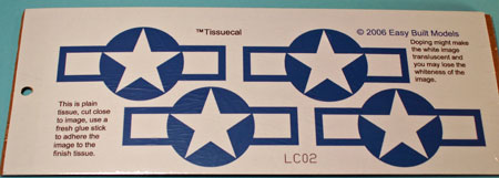 TissueCal Markings for kit LC102