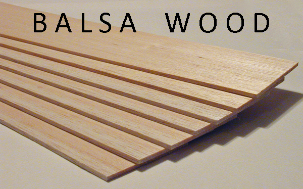 Weighed Balsa Wood