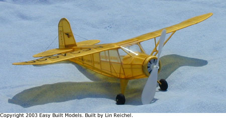 Easy Built Models Rearwin Cloudster Instrument Trainer