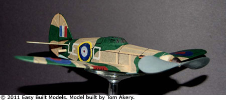 Easy Built Models Hawker Hurricane 12 Quot Fac Dime Scale