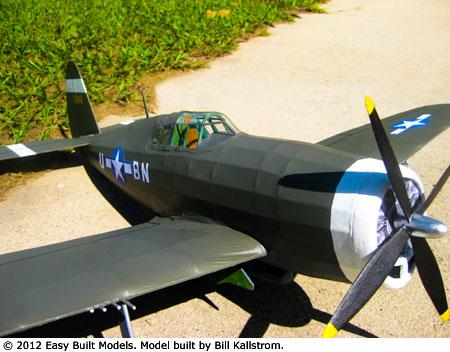 P-47 Thunderbolt #FF71 Easy Built Balsa Wood Model Airplane Kit Rubber Powered