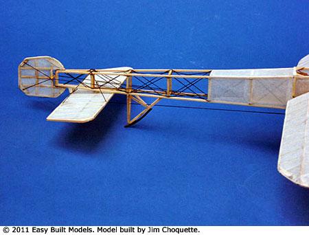 Easy Built Models - Bleriot XI (LASER CUT) Rubber Powered
