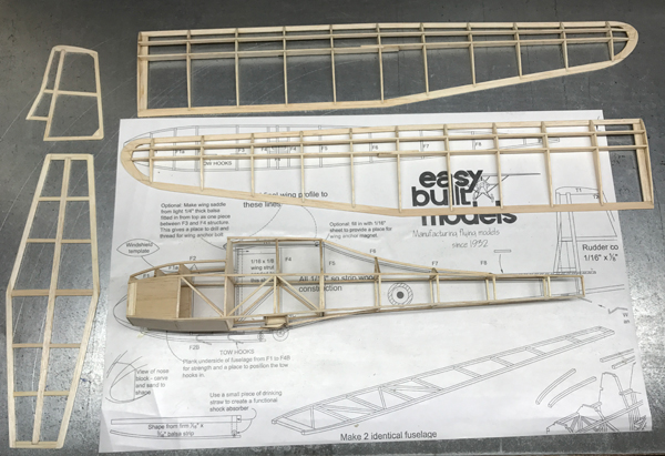 Easy Built Models Slingsby Prefect Glider Laser Cut