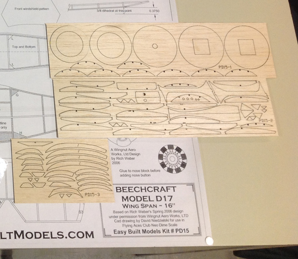 Laser Cut Model Aircraft Kits