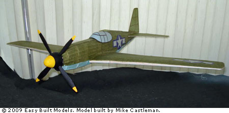 kit LC102 North american P-51B Mustang (Laser Cut)