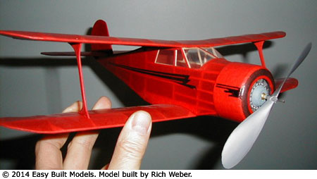 Rich Weber holding his Staggerwing